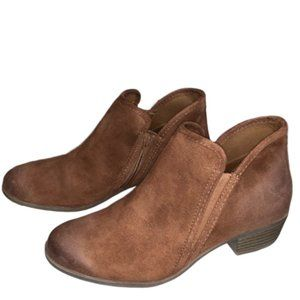 SO Suede Chestnut/Brown Ankle Boot Size 8.5